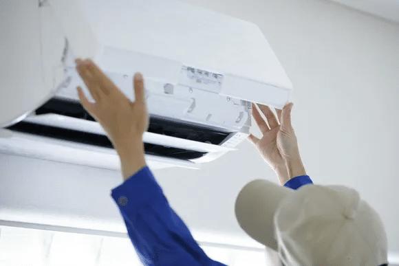 electrician fixing heating